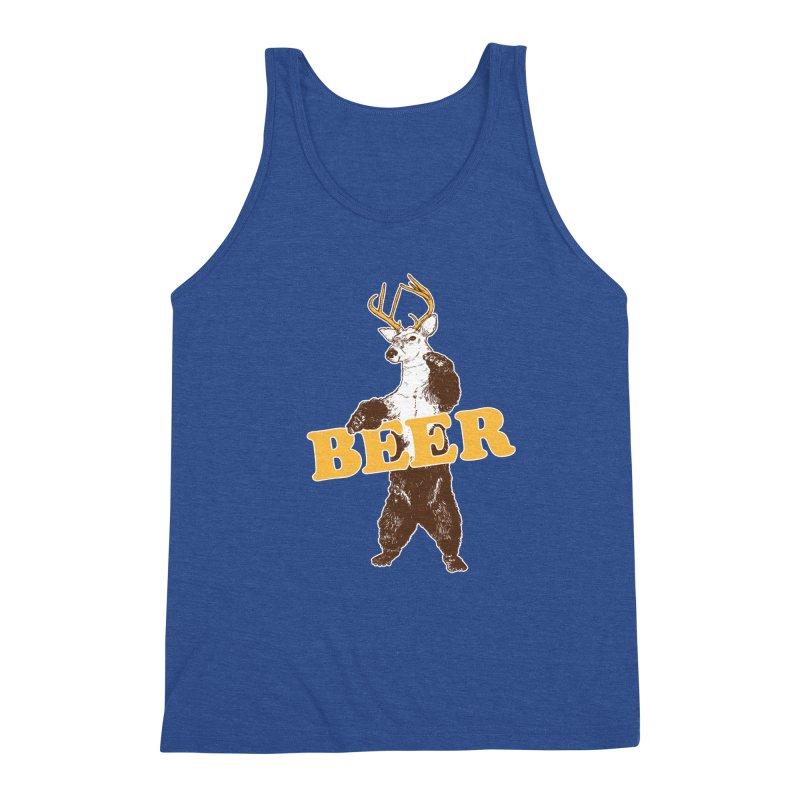 Bear + Deer = Beer Men's Triblend Tank by Jerkass