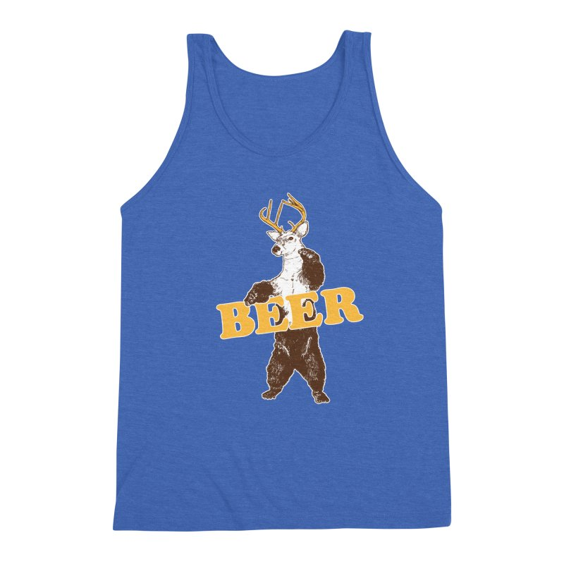 Bear + Deer = Beer Men's Triblend Tank by Jerkass