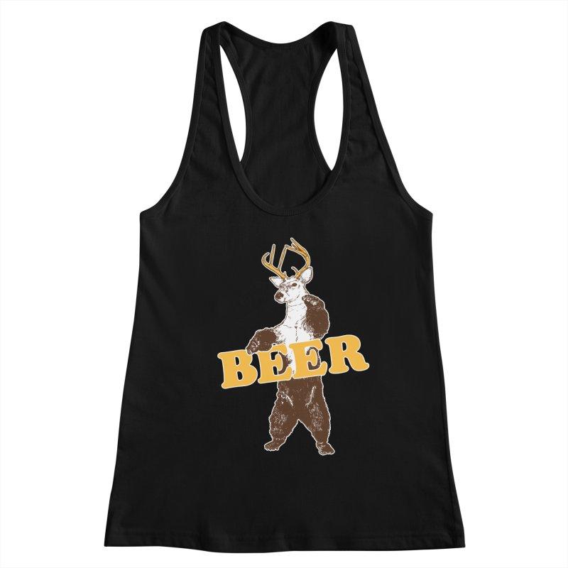 Bear + Deer = Beer Women's Racerback Tank by Jerkass