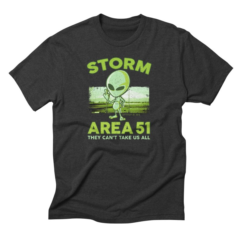 Storm Area 51 Men's Triblend T-Shirt by Jerkass