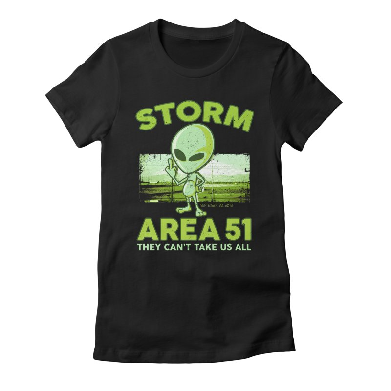 Storm Area 51 Women's Fitted T-Shirt by Jerkass