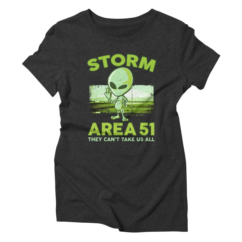 Storm Area 51 Women's Triblend T-Shirt by Jerkass