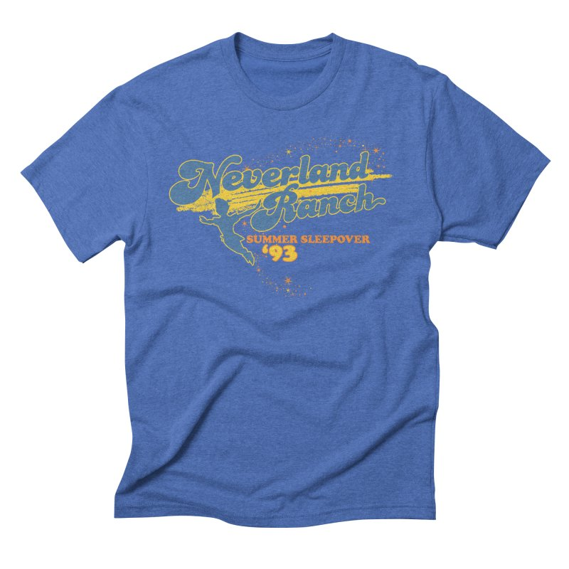 Neverland Ranch Summer Sleepover '93 Men's Triblend T-Shirt by Jerkass Clothing Co.