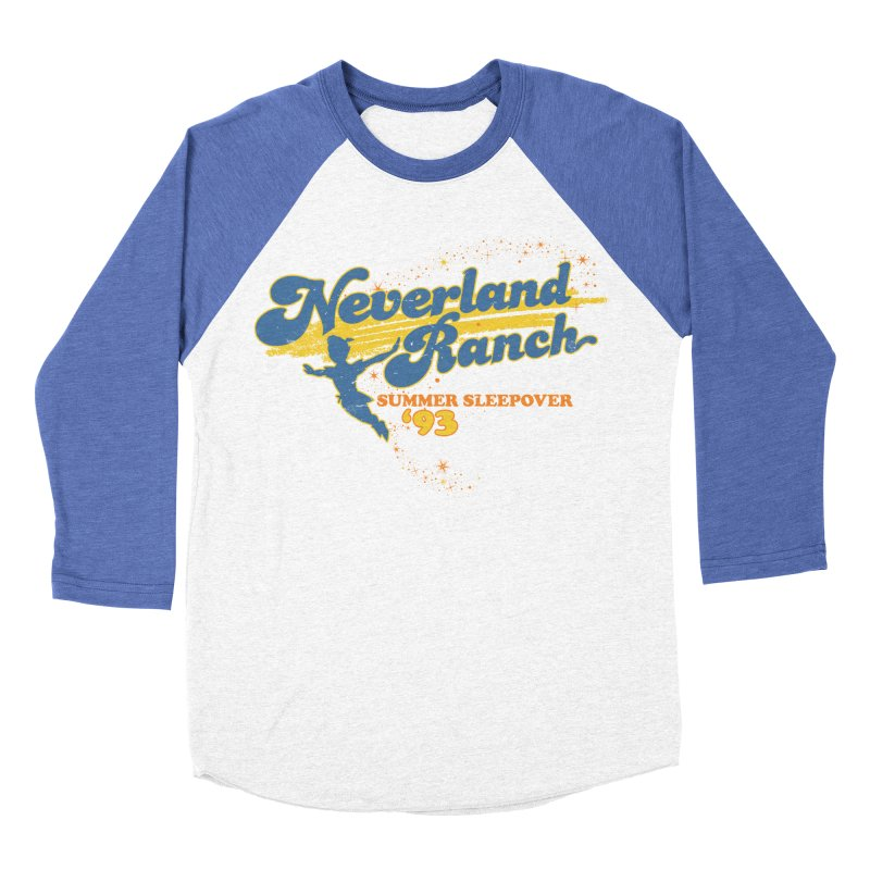 Neverland Ranch Summer Sleepover '93 Women's Baseball Triblend Longsleeve T-Shirt by Jerkass Clothing Co.