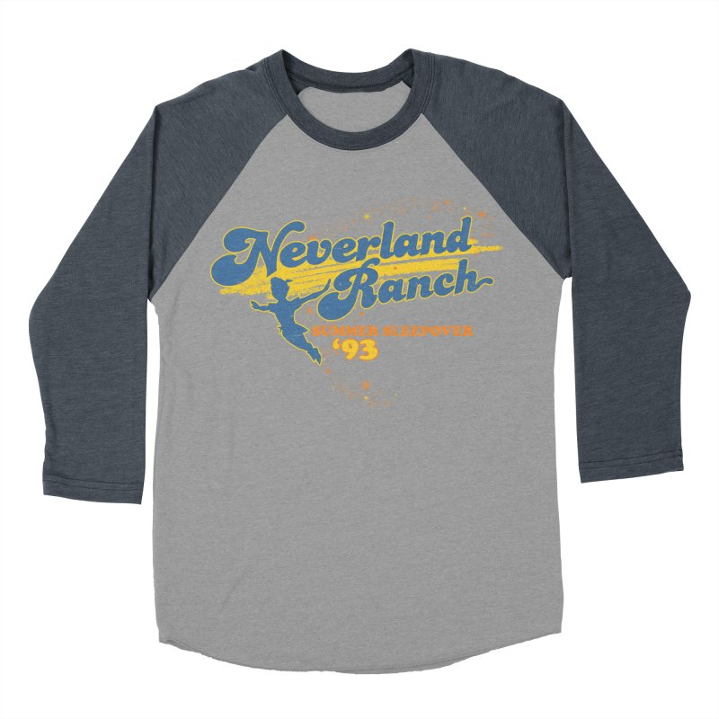 Neverland Ranch Summer Sleepover '93 Men's Baseball Triblend Longsleeve T-Shirt by Jerkass Clothing Co.