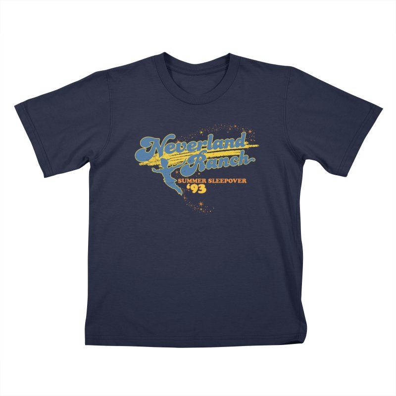 Neverland Ranch Summer Sleepover '93 Kids T-Shirt by Jerkass Clothing Co.