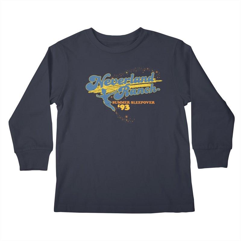 Neverland Ranch Summer Sleepover '93 Kids Longsleeve T-Shirt by Jerkass Clothing Co.