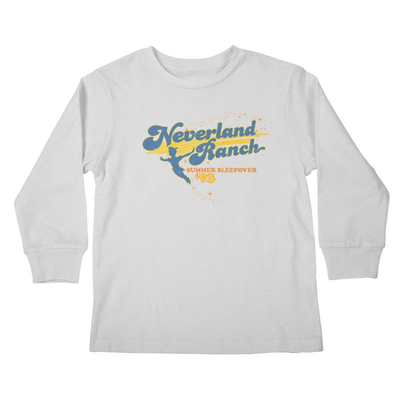 Neverland Ranch Summer Sleepover '93 Kids Longsleeve T-Shirt by Jerkass Clothing Co.