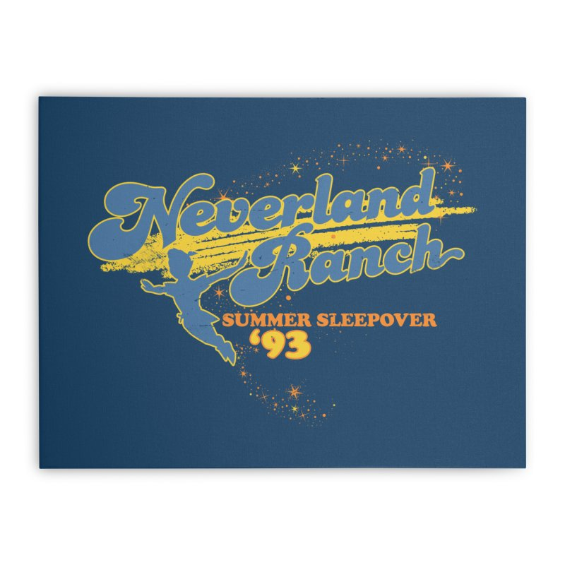 Neverland Ranch Summer Sleepover '93 Home Stretched Canvas by Jerkass Clothing Co.