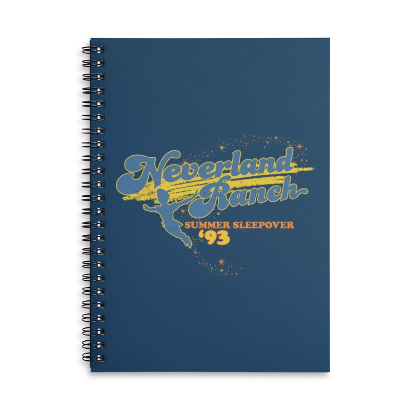 Neverland Ranch Summer Sleepover '93 Accessories Lined Spiral Notebook by Jerkass Clothing Co.