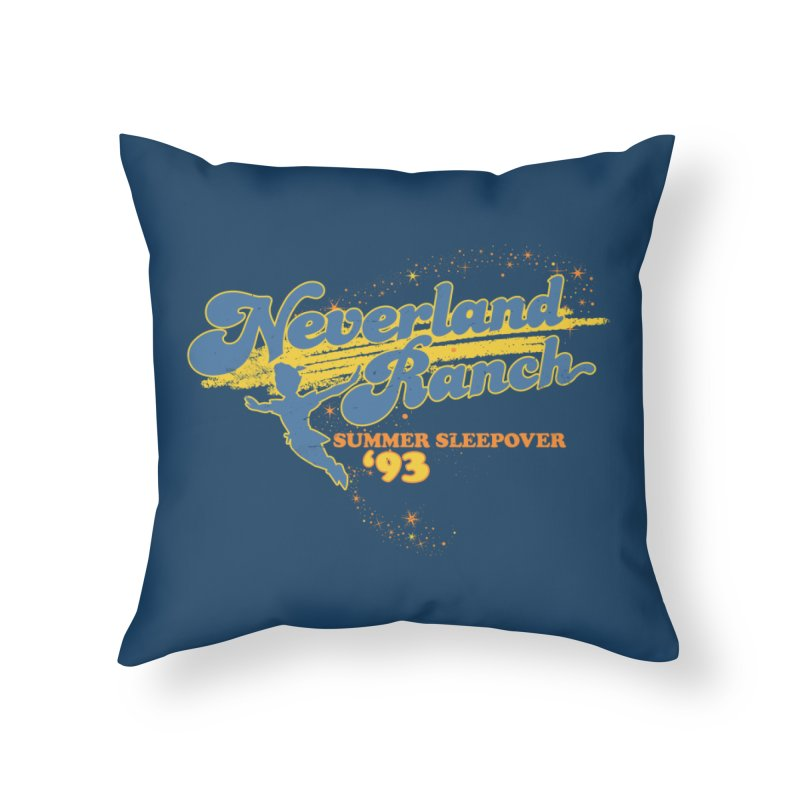 Neverland Ranch Summer Sleepover '93 Home Throw Pillow by Jerkass Clothing Co.