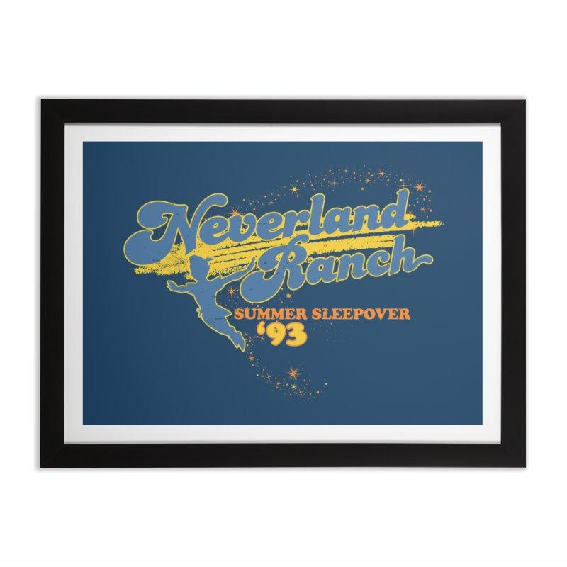 Neverland Ranch Summer Sleepover '93 Home Framed Fine Art Print by Jerkass Clothing Co.