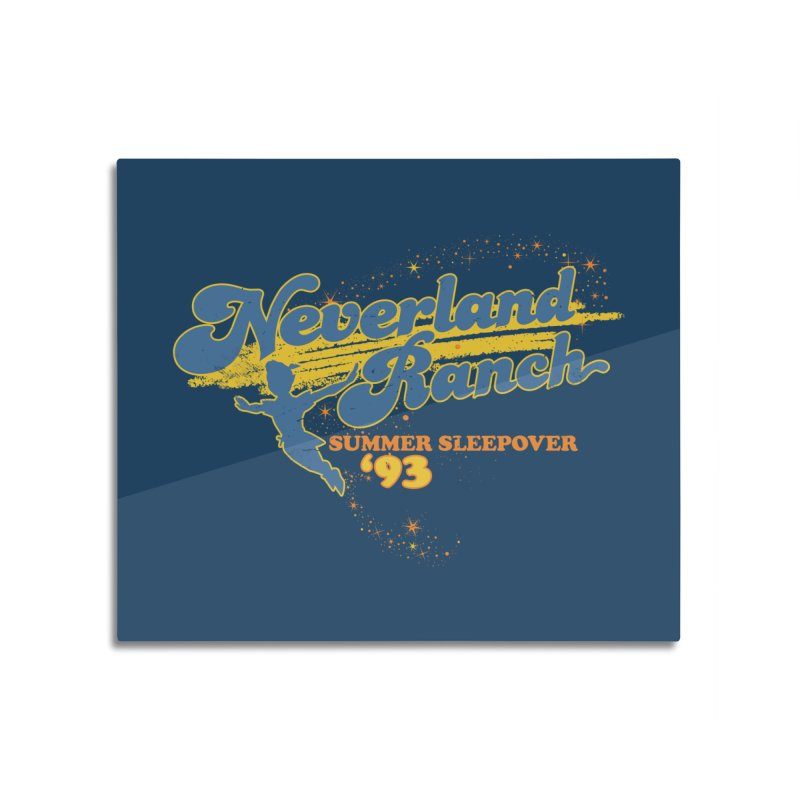 Neverland Ranch Summer Sleepover '93 Home Mounted Aluminum Print by Jerkass Clothing Co.
