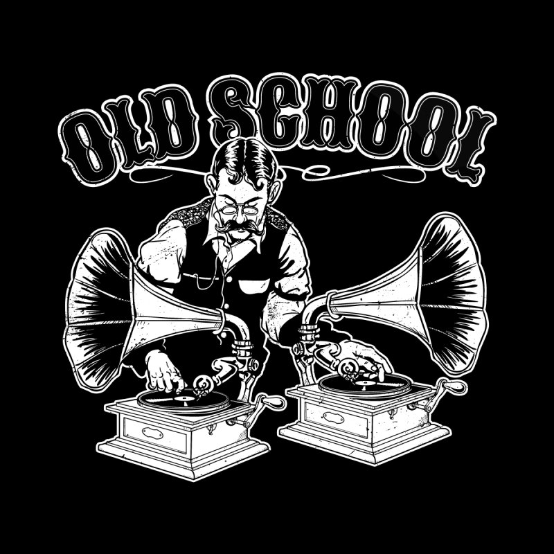 Old School DJ Jebediah Men's T-Shirt by Jerkass Clothing Co.