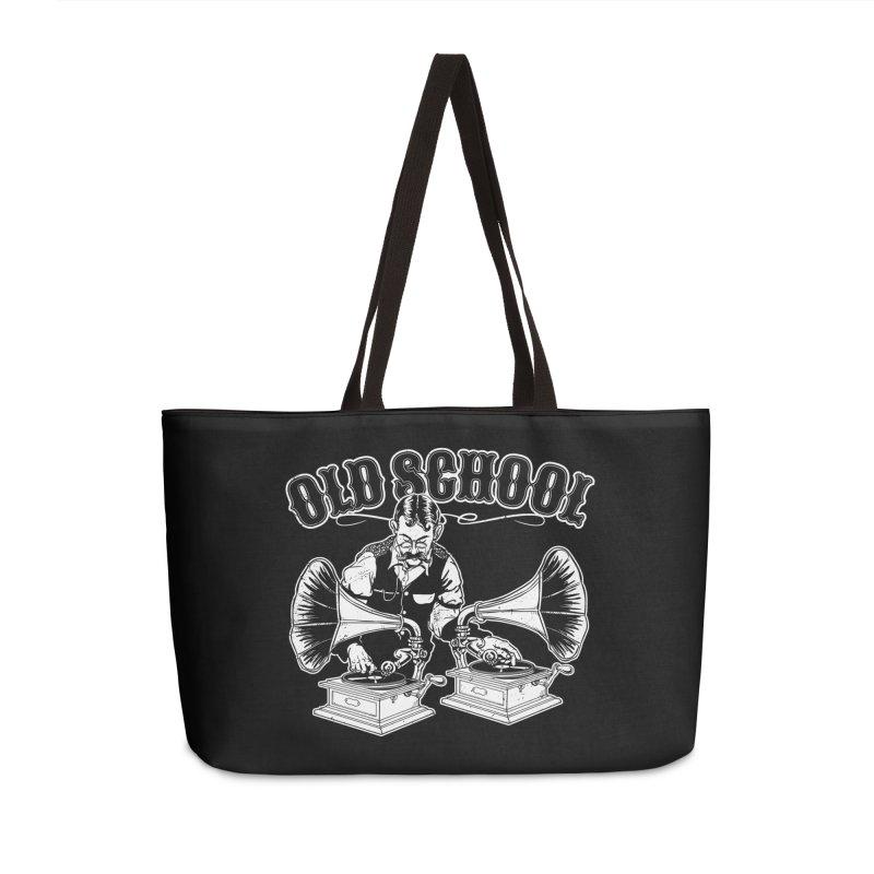 Old School DJ Jebediah Accessories Weekender Bag Bag by Jerkass Clothing Co.