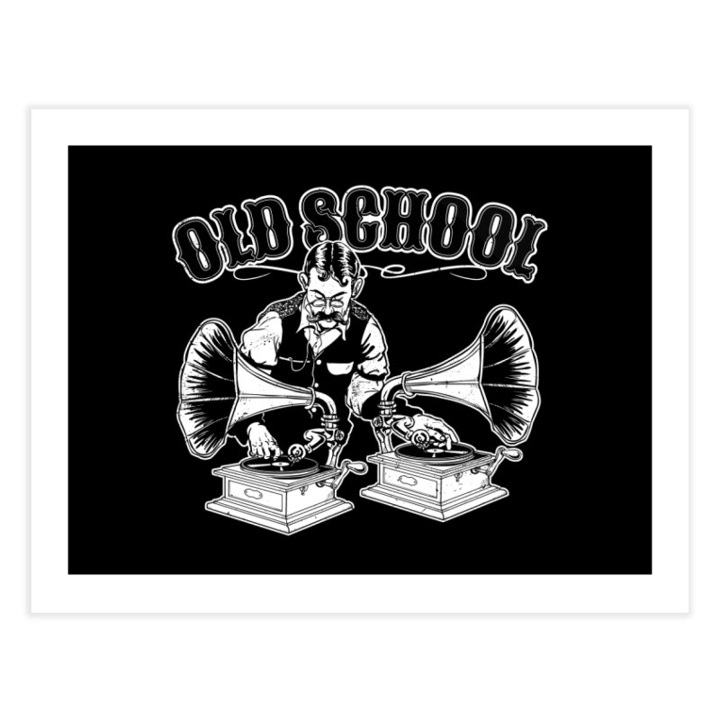 Old School DJ Jebediah Home Fine Art Print by Jerkass Clothing Co.