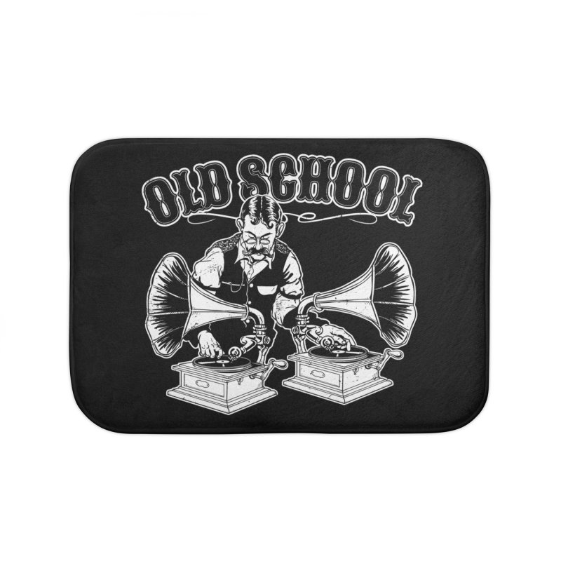 Old School DJ Jebediah Home Bath Mat by Jerkass Clothing Co.