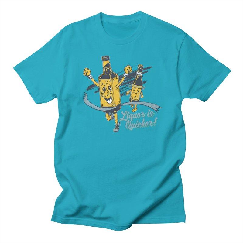 Liquor is Quicker! Men's Regular T-Shirt by Jerkass Clothing Co.