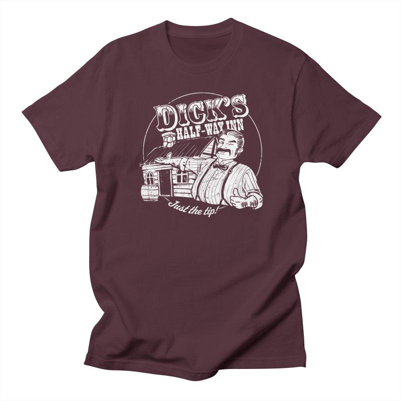 Dick's Half-Way Inn Men's Regular T-Shirt by Jerkass Clothing Co.