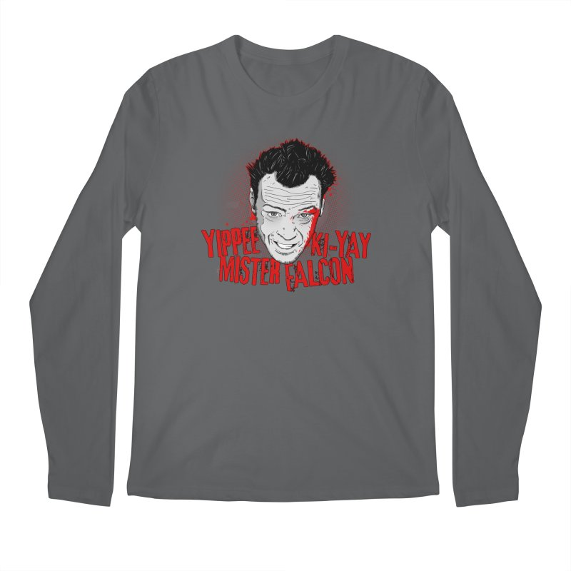 Yippee Ki-Yay Mister Falcon Men's Regular Longsleeve T-Shirt by Jerkass Clothing Co.