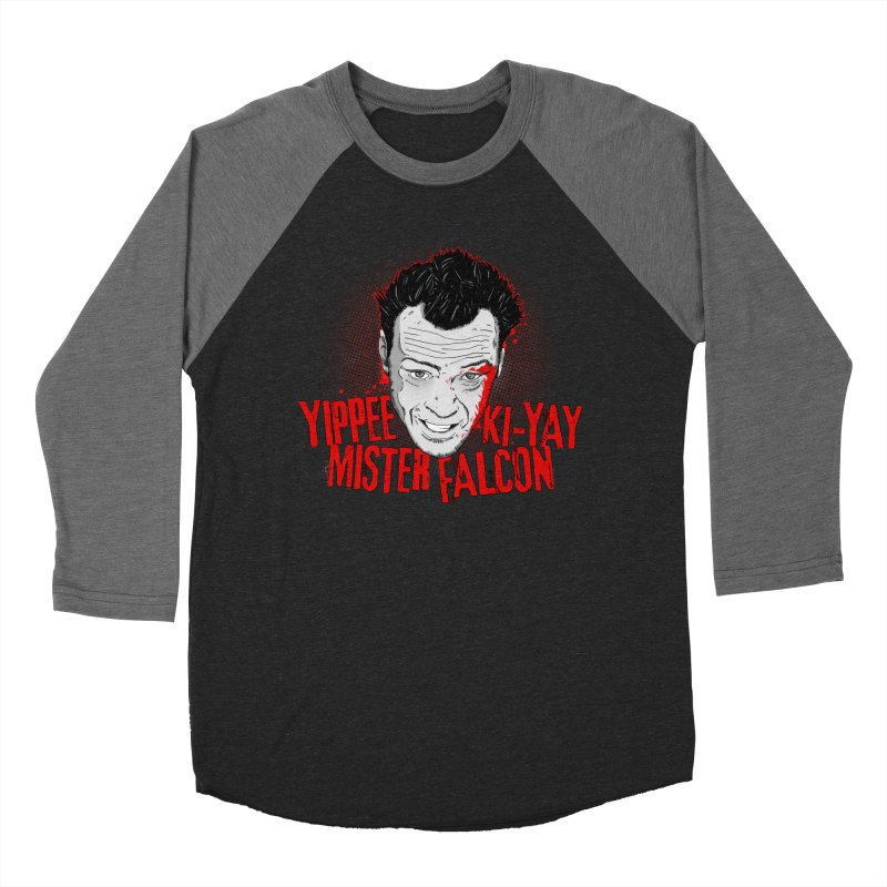 Yippee Ki-Yay Mister Falcon Men's Baseball Triblend Longsleeve T-Shirt by Jerkass Clothing Co.