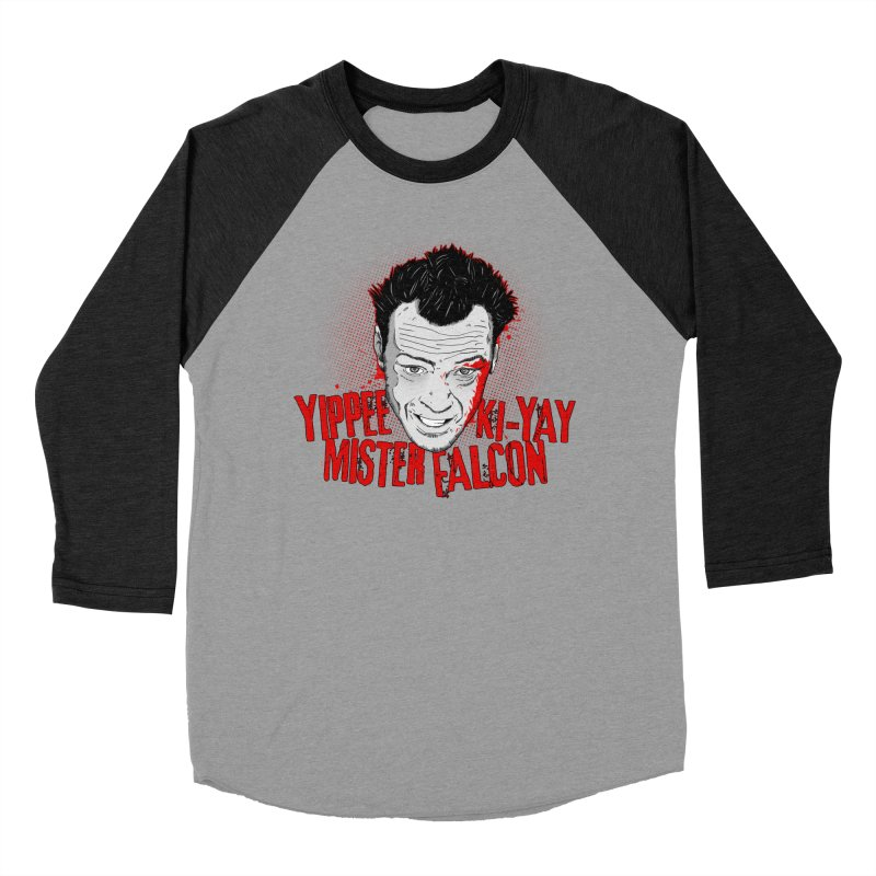 Yippee Ki-Yay Mister Falcon Men's Baseball Triblend T-Shirt by Jerkass Clothing Co.