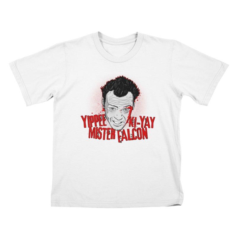 Yippee Ki-Yay Mister Falcon Kids T-Shirt by Jerkass Clothing Co.