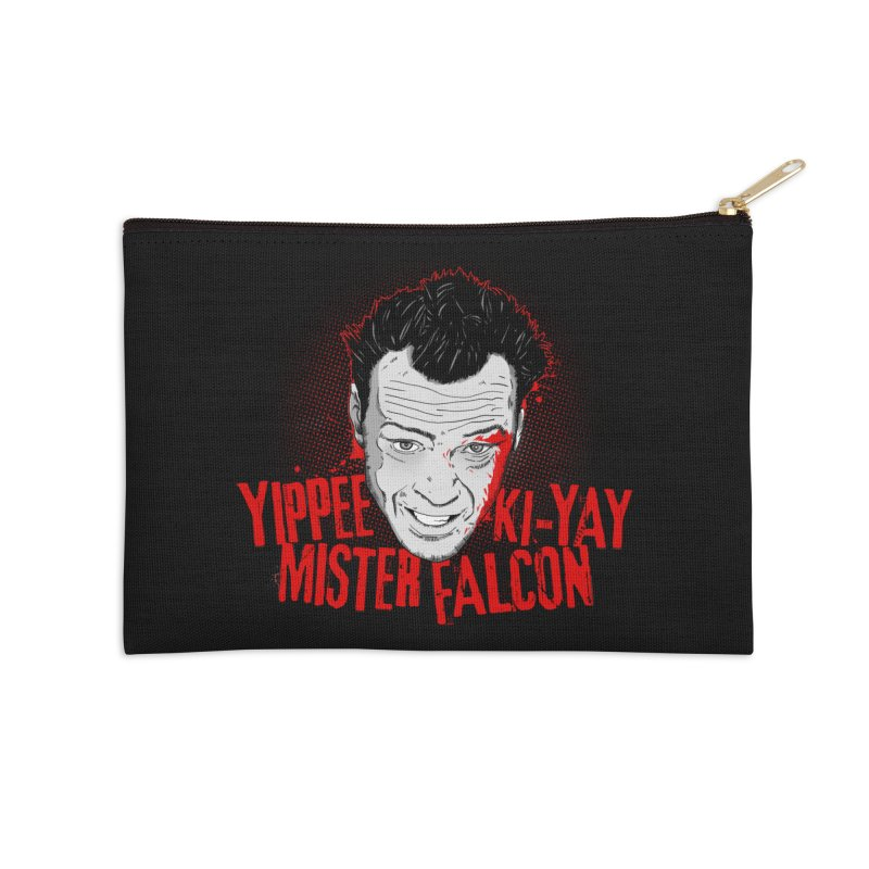 Yippee Ki-Yay Mister Falcon Accessories Zip Pouch by Jerkass Clothing Co.