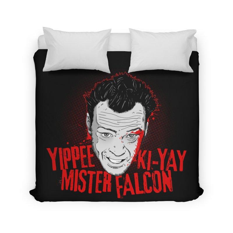 Yippee Ki-Yay Mister Falcon Home Duvet by Jerkass Clothing Co.