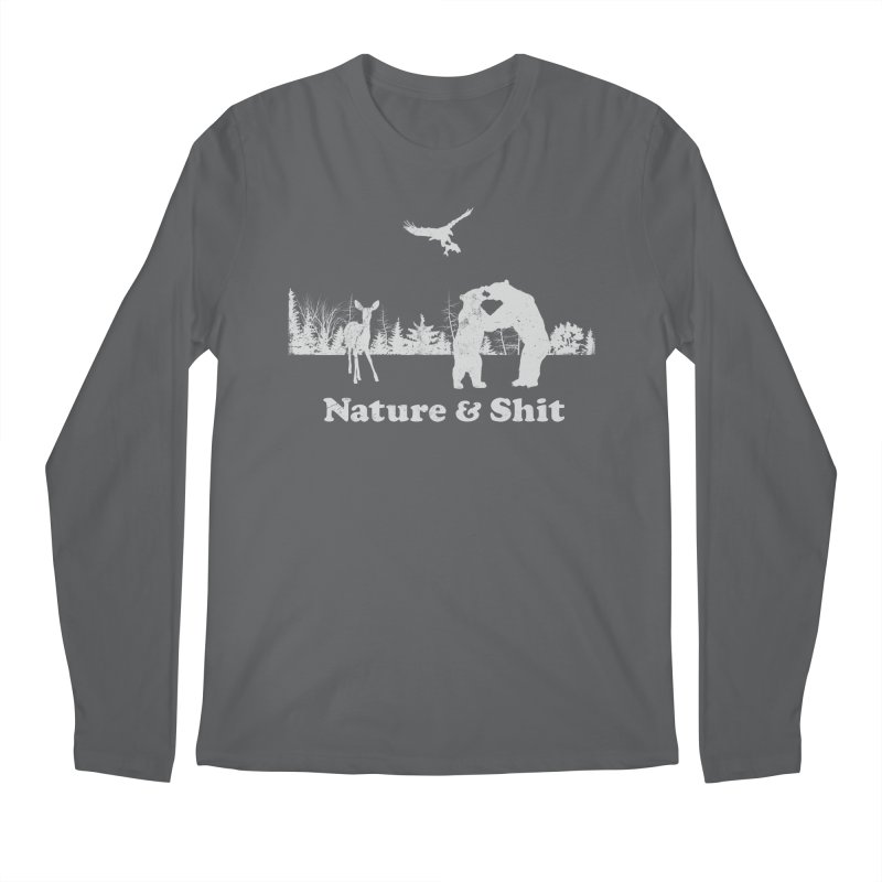 Nature & Shit Men's Longsleeve T-Shirt by Jerkass Clothing Co.