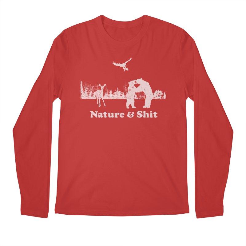 Nature & Shit Men's Regular Longsleeve T-Shirt by Jerkass Clothing Co.