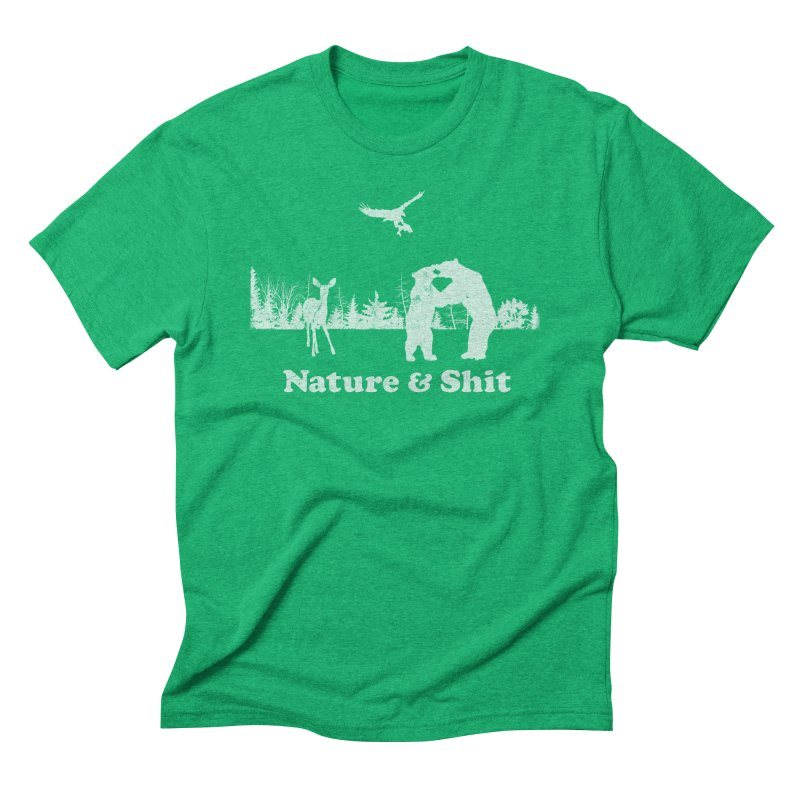 Nature & Shit in Men's Triblend T-Shirt Tri-Kelly by Jerkass