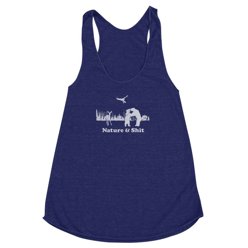 Nature & Shit Women's Racerback Triblend Tank by Jerkass