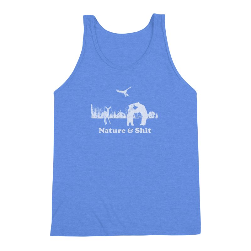 Nature & Shit Men's Triblend Tank by Jerkass Clothing Co.