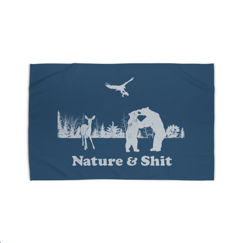 Nature & Shit Home Rug by Jerkass Clothing Co.