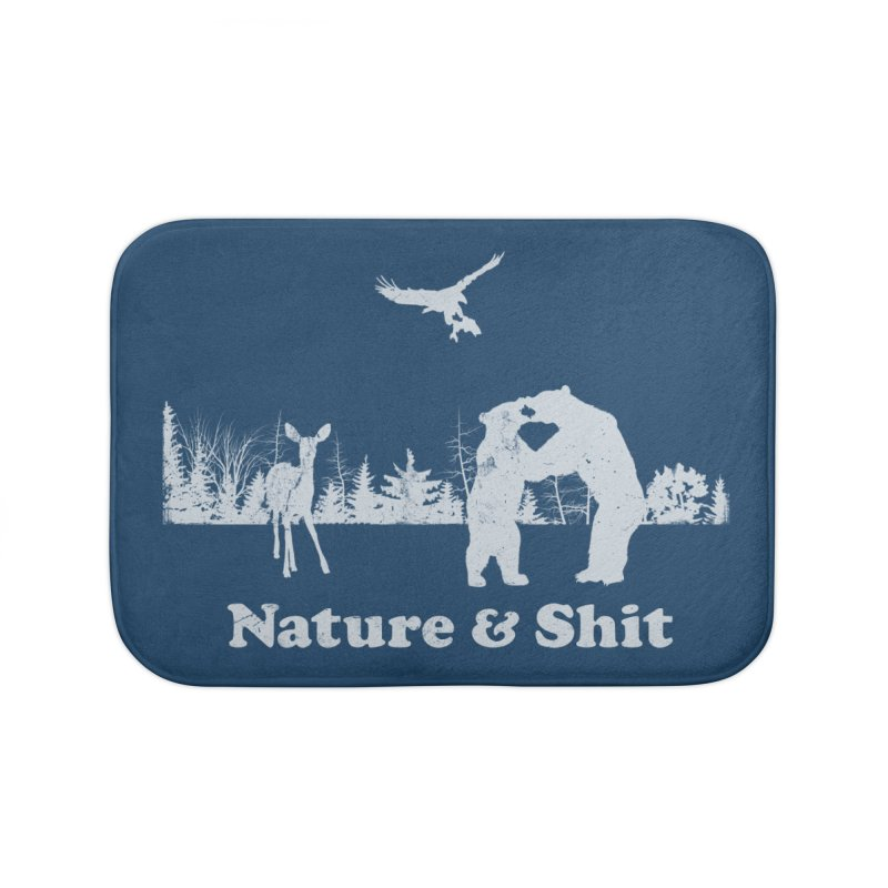 Nature & Shit Home Bath Mat by Jerkass Clothing Co.