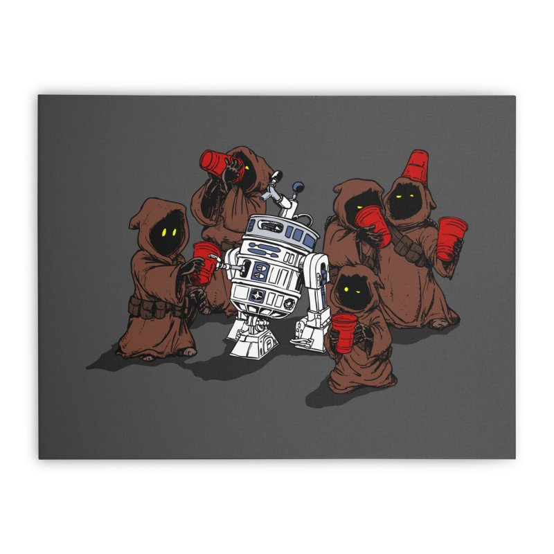 Tap That Droid Home Stretched Canvas by Jerkass Clothing Co.