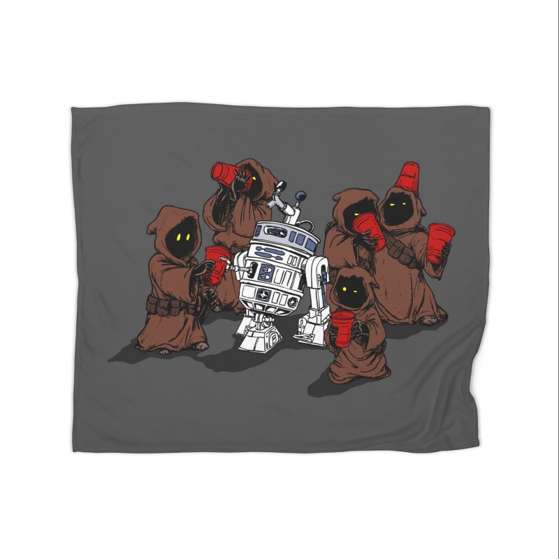 Tap That Droid Home Fleece Blanket Blanket by Jerkass Clothing Co.