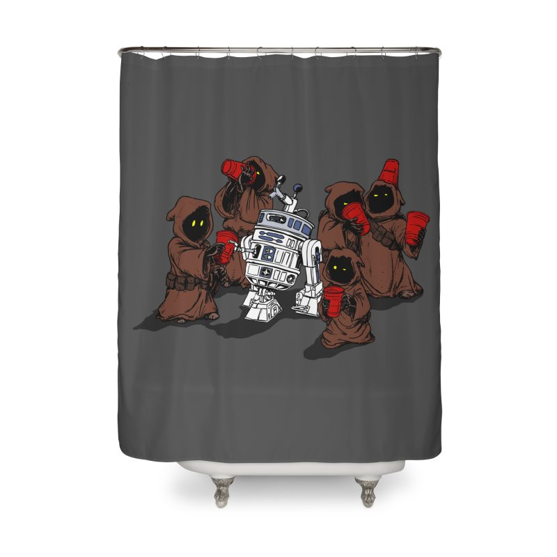 Tap That Droid Home Shower Curtain by Jerkass Clothing Co.