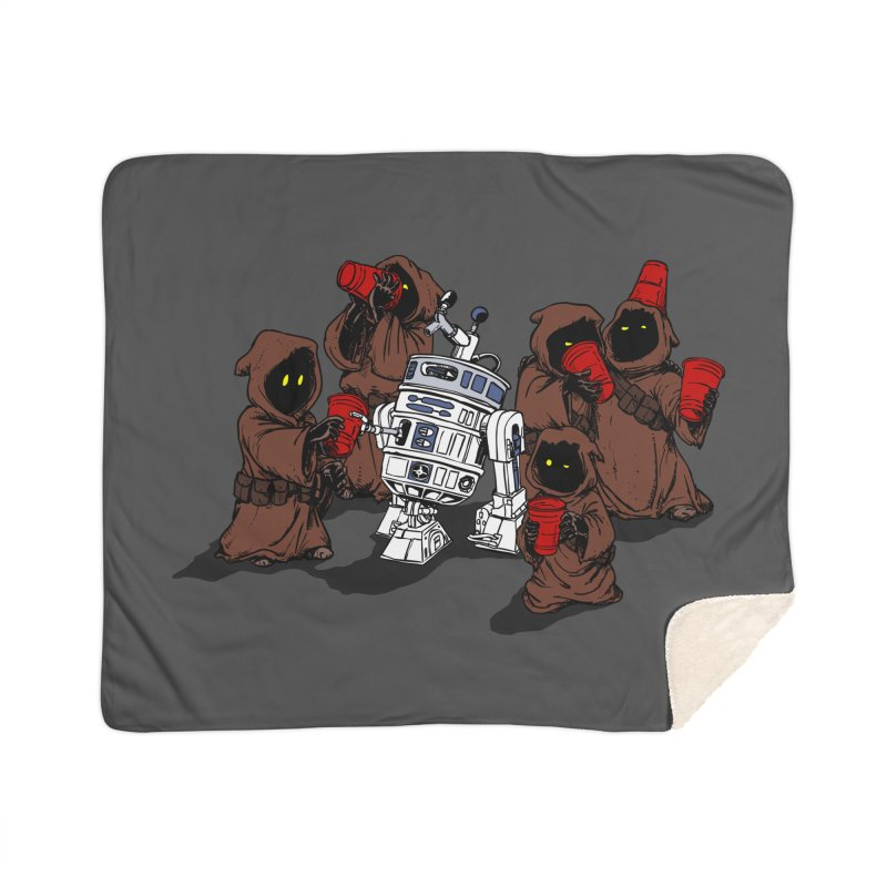 Tap That Droid Home Sherpa Blanket Blanket by Jerkass Clothing Co.