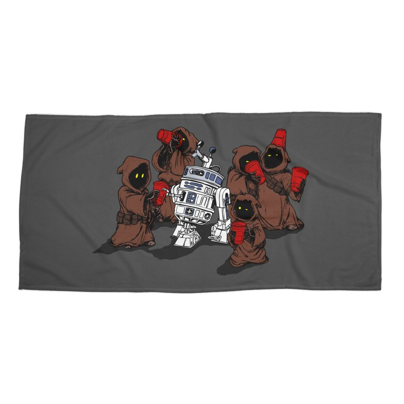 Tap That Droid Accessories Beach Towel by Jerkass Clothing Co.