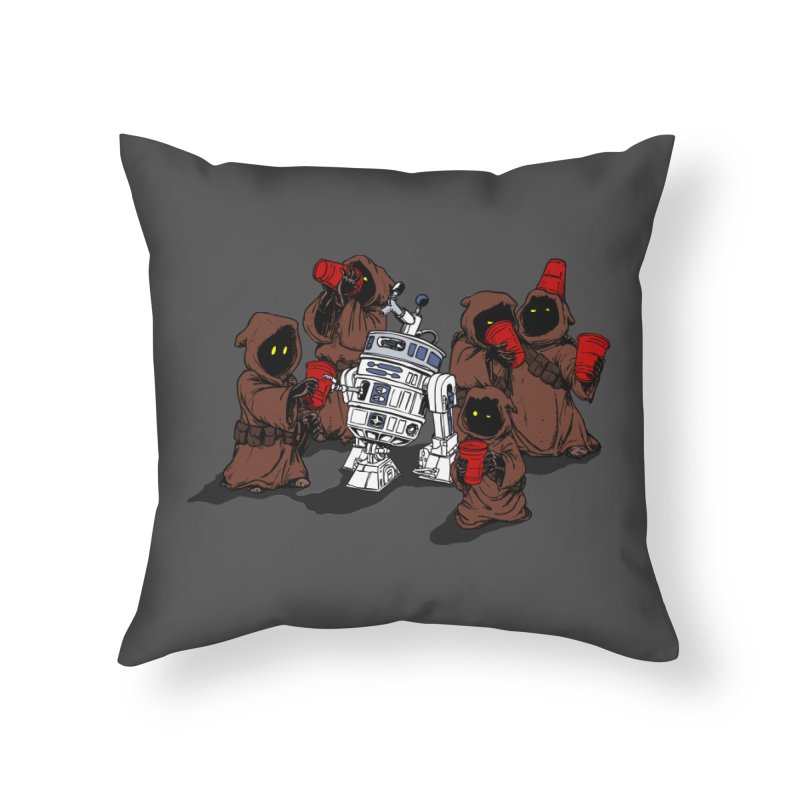 Tap That Droid Home Throw Pillow by Jerkass Clothing Co.