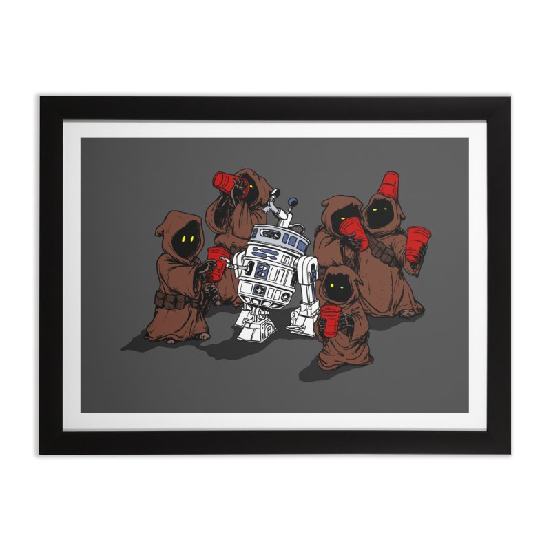 Tap That Droid Home Framed Fine Art Print by Jerkass Clothing Co.