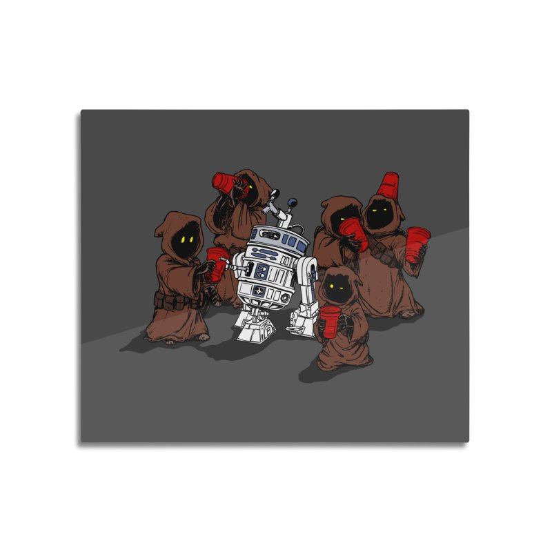 Tap That Droid Home Mounted Aluminum Print by Jerkass Clothing Co.