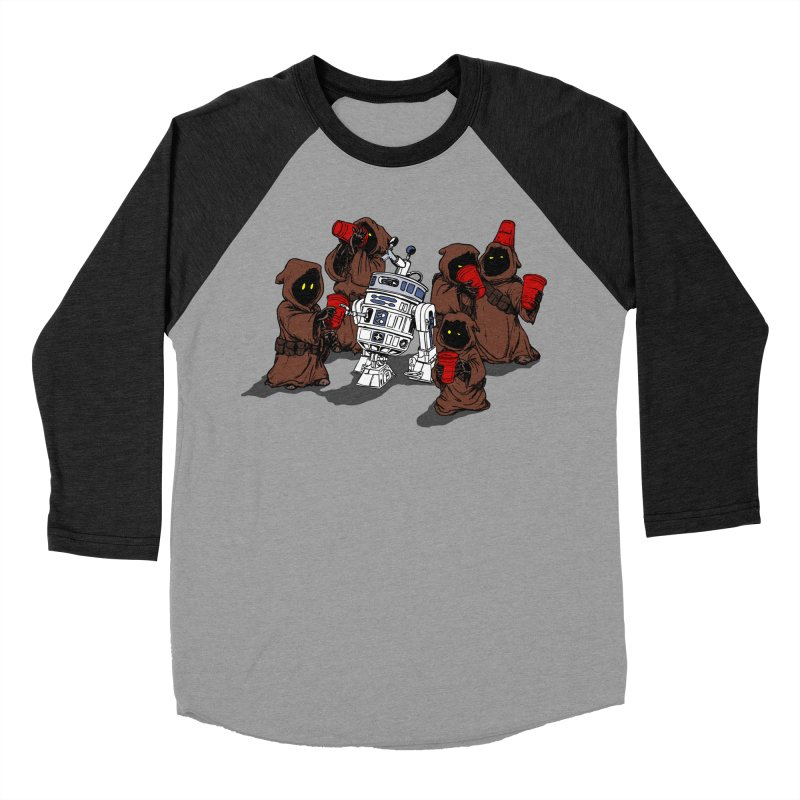 Tap That Droid Men's Baseball Triblend T-Shirt by Jerkass Clothing Co.