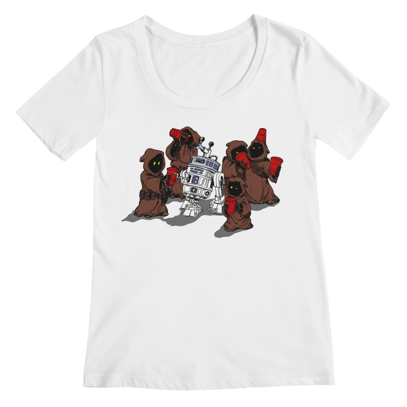 Tap That Droid Women's Regular Scoop Neck by Jerkass Clothing Co.
