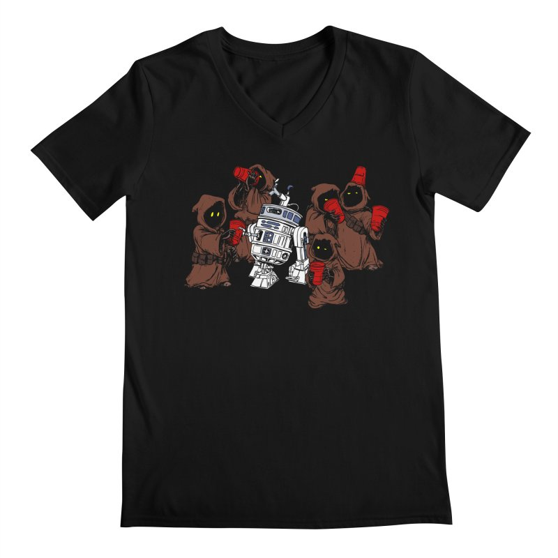 Tap That Droid Men's V-Neck by Jerkass Clothing Co.
