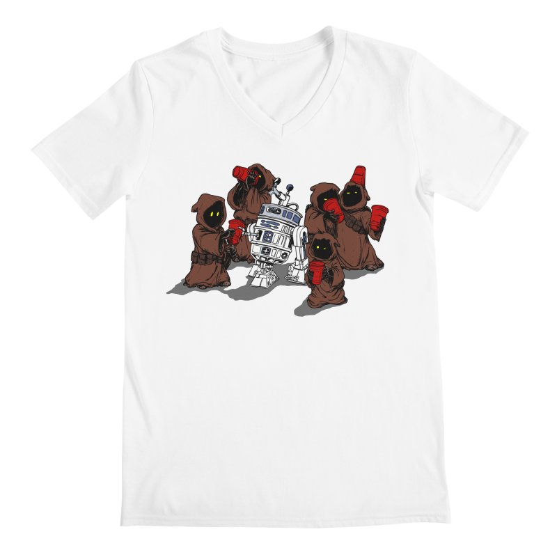 Tap That Droid Men's Regular V-Neck by Jerkass Clothing Co.