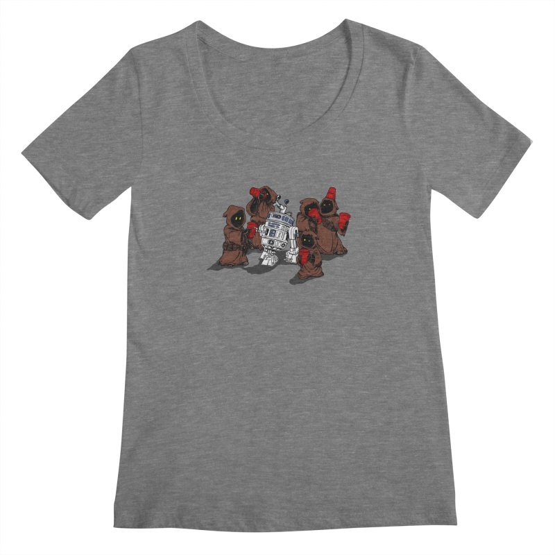 Tap That Droid Women's Scoopneck by Jerkass Clothing Co.