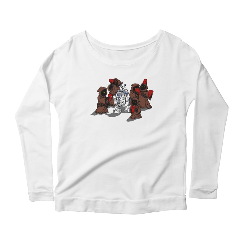 Tap That Droid Women's Scoop Neck Longsleeve T-Shirt by Jerkass Clothing Co.